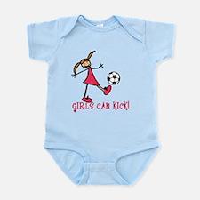 Girls Soccer Girls Can Kick Infant Bodysuit