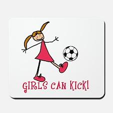 Girls Soccer Girls Can Kick Mousepad
