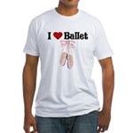 I love Ballet Fitted T-Shirt