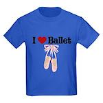 I love Ballet Kids Dark T-Shirt