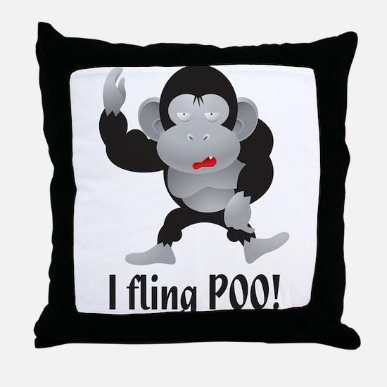 I fling POO! Throw Pillow