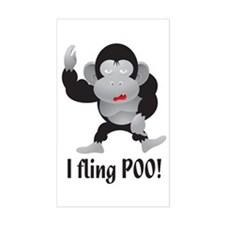 I fling POO! Rectangle Decal