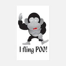 I fling POO! Rectangle Decal