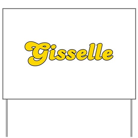 Retro Gisselle (Gold) Yard Sign
