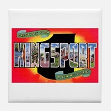 Kingsport Tennessee Greetings Tile Coaster