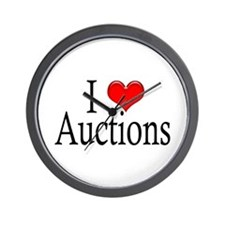 I Heart Auctions Wall Clock