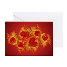 Autumn Hearts Greeting Card
