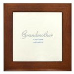 Grandmother easy to operate Framed Tile