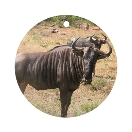 Wildebeests Ornament (Round)