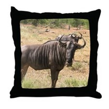 Wildebeests Throw Pillow