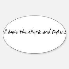Shark and taties Oval Decal