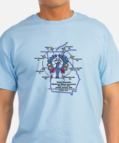 Stone Mountain Thunderbird Blue T-Shirt