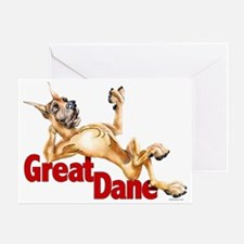 Great Dane Fawn LB Greeting Card