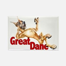 Great Dane Fawn LB Rectangle Magnet