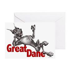Great Dane Black LB Greeting Card