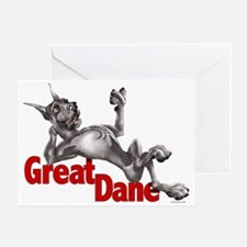 Great Dane Black LB Greeting Card