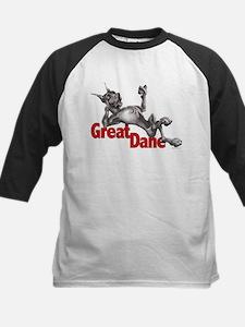 Great Dane Black LB Kids Baseball Jersey