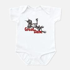 Great Dane Black LB Infant Bodysuit