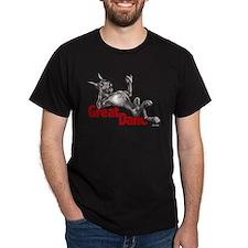 Great Dane Black LB T-Shirt