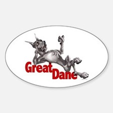 Great Dane Black LB Oval Decal