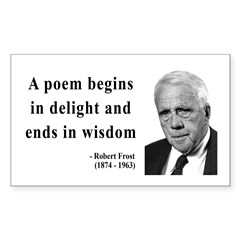 Robert Frost Quote 11 Rectangle Decal