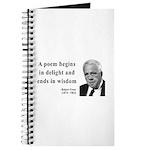 Robert Frost Quote 11 Journal
