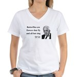 Robert Frost Quote 10 Women's V-Neck T-Shirt