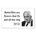 Robert Frost Quote 10 Rectangle Sticker