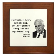 Robert Frost Quote 9 Framed Tile