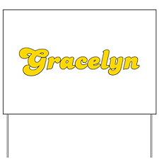 Retro Gracelyn (Gold) Yard Sign