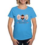 Peace Love Badminton Women's Dark T-Shirt
