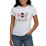 Peace Love Badminton Women's T-Shirt