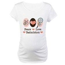 Peace Love Badminton Shirt