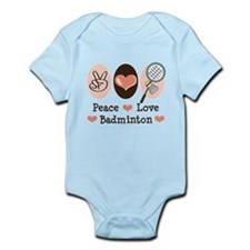 Peace Love Badminton Infant Bodysuit
