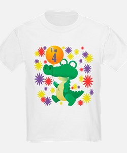 I'm 4 Birthday Alligator T-Shirt