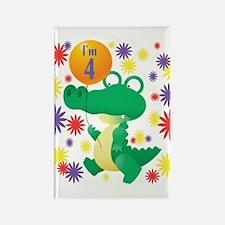 I'm 4 Birthday Alligator Rectangle Magnet