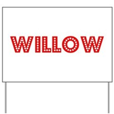 Retro Willow (Red) Yard Sign
