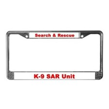 Cute Search and rescue License Plate Frame