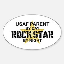 USAF Prnt Rock Star by Night Oval Decal