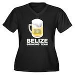 Belize Drinking Team Women's Plus Size V-Neck Dark