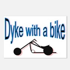 Dyke on a bike Postcards (Package of 8)