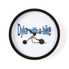 Dyke on a bike Wall Clock