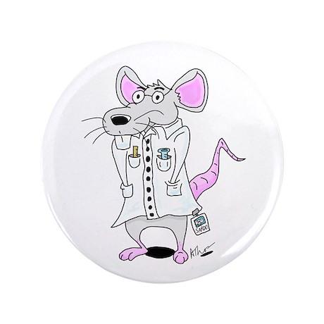 """Scientist Lab Rat 3.5"""" Button"""