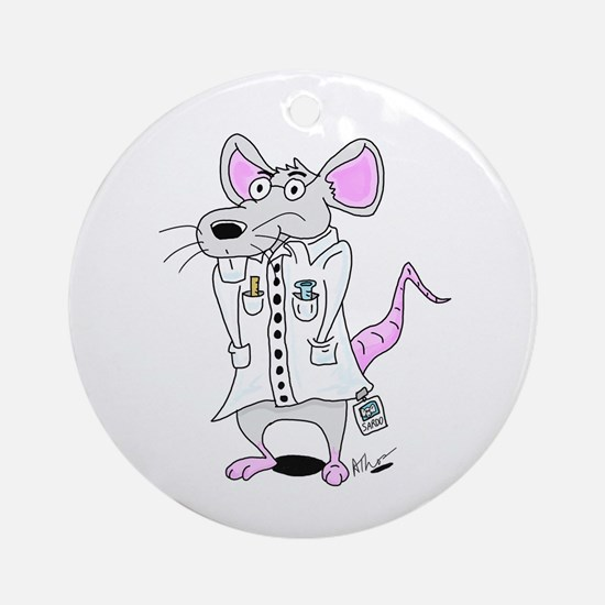 Scientist Lab Rat Ornament (Round)