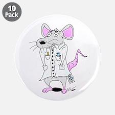 "Scientist Lab Rat 3.5"" Button (10 pack)"