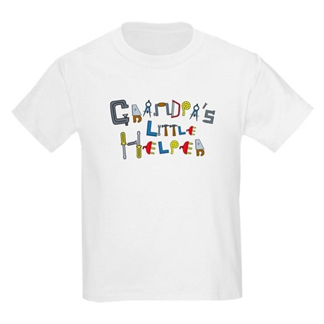 Grandpa's Little Helper Kids Light T-Shirt