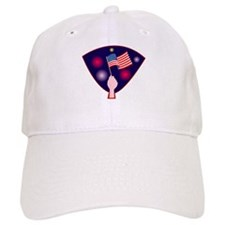 Waving American Flag Baseball Cap