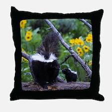 Skunk Throw Pillow