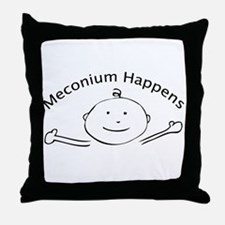 Meconium Happens Throw Pillow