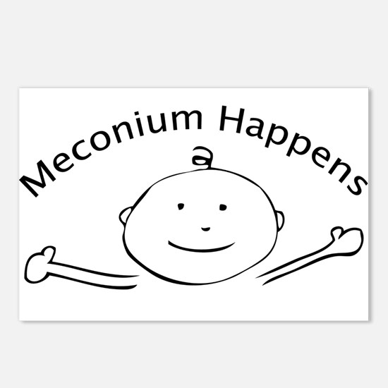 Meconium Happens postcards (Package of 8)